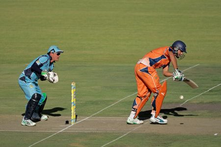 titans: Bloemfontein, South Africa - December 22, 2009 - Action during a one-day cricket match between the Eagles and Titans (Titans won by four wickets) Editorial