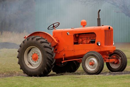 An old vintage tractor Stock Photo - 6701341
