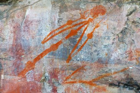 kakadu: Aboriginal rock art at Ubirr, Kakadu National Park, Northern Territory, Australia Stock Photo