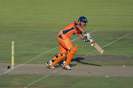 Bloemfontein, South Africa - December 22, 2009 - Action during a one-day cricket match between the Eagles and Titans (Titans won by four wickets) Stock Photo - 7571920