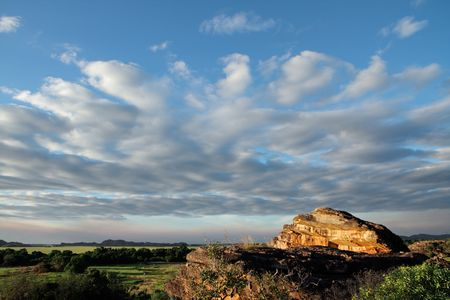 Landscape at Ubirr, Kakadu National Park, Northern Territory, Australia photo
