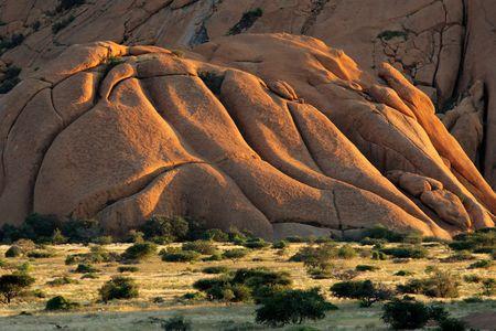 spitzkoppe: Massive granite mountain, Spitzkoppe, Namibia, southern Africa Stock Photo