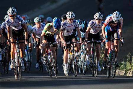 radfahren: Bloemfontein, S�dafrika - November 7, 2010 - Radfahrer w�hrend der j�hrlichen OFM Classic cycle race  Editorial