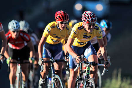 bicycle race: Bloemfontein, South Africa - November 7, 2010 - Cyclists during the annual OFM Classic cycle race