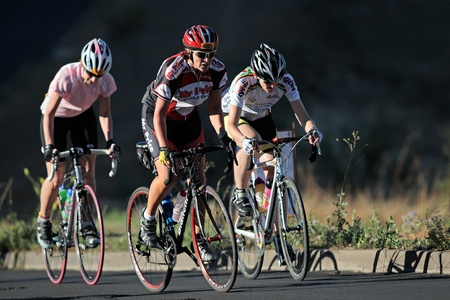 Bloemfontein, South Africa - November 7, 2010 - Cyclists during the annual OFM Classic cycle race Stock Photo - 8626275