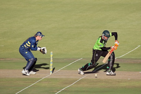Bloemfontein, South Africa - November 12, 2010 - Action during a one-day cricket match between the Knights and Warriors (Knights won by seven wickets)