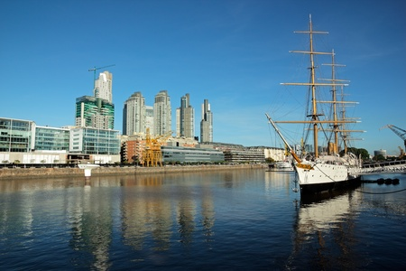 aires: View of the old harbor area (Puerto Madero), Buenos Aires, Argentina