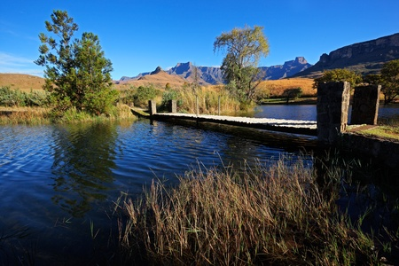View of the Drakensberg mountains, Royal Natal National Park, South Africa  Stock Photo - 10231458
