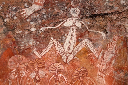 primitive: Aboriginal rock art (Namondjok) at Nourlangie, Kakadu National Park, Northern Territory, Australia