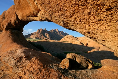 Massive granite arch, Spitzkoppe, Namibia, southern Africa  Stock Photo