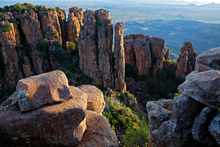 desolation: Valley of desolation, Camdeboo National Park, South Africa Stock Photo