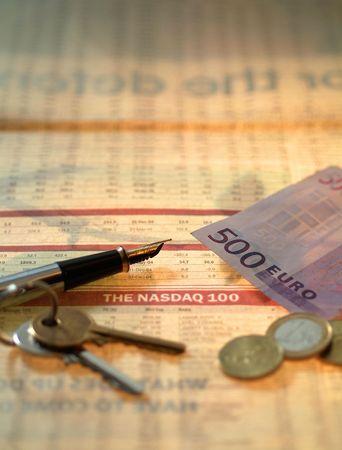 remuneraci�n: Nasdaq 500 euros  Foto de archivo