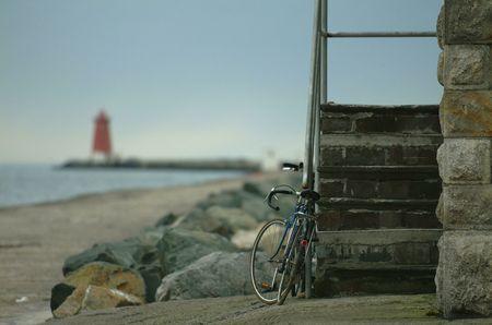 emanation: Irish Coastal Scene at Dusk Stock Photo