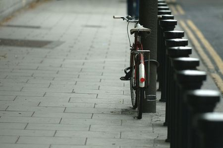 crosscut: Bicycle and posts