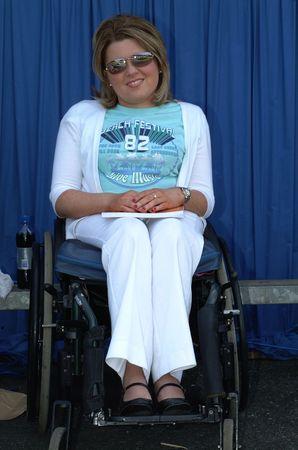 debutante: Wheelchair Model Stock Photo