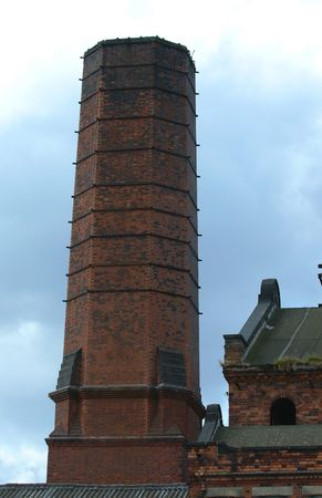 combust: Victorian Chimney scape Stock Photo