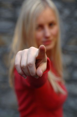 Girl Pointing Stock Photo - 253075