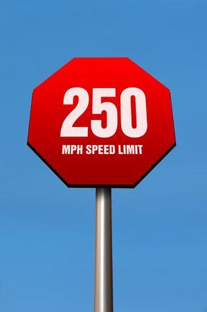 wacky: Wacky speed limit Stock Photo