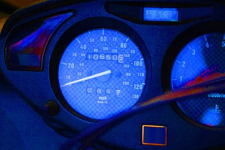Bike Speedometer Stock Photo
