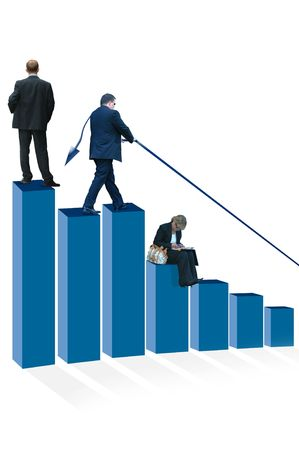 int: Business Development Graph Stock Photo