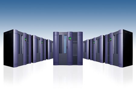 Server array Stock Photo