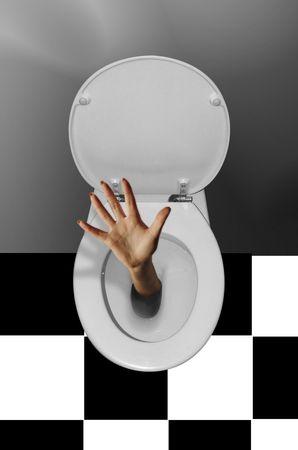 dedo me�ique: Flushed en Blanco y Negro
