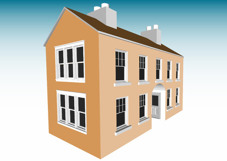 Multi-room House (Vector fully resizable and editable) Vector