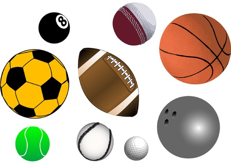 Collection of various sports ball in vector format (fully resizable and editable)
