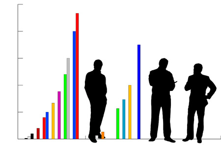 Businessmen and Growth Chart Stock Vector - 2925962