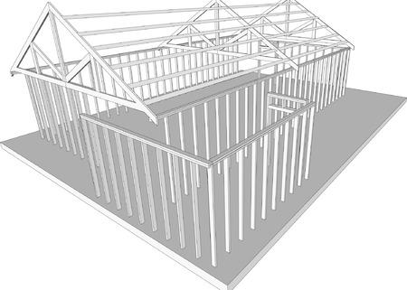 x stand: Semi-construido separado de origen (Vector de tama�o y totalmente editable)