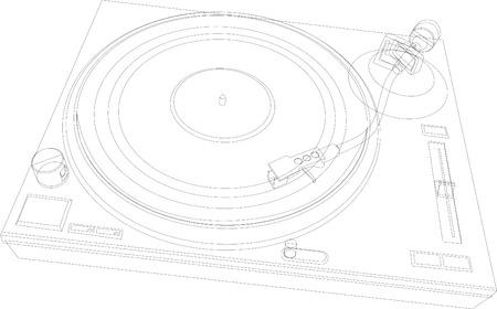 rpm: DJ Deck Outline Illustration
