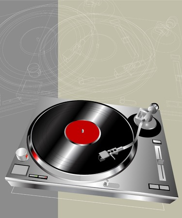 DJ Deck / Turntable Stock Vector - 2925970