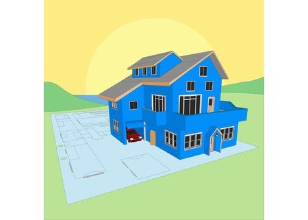 housing project: Arquitecto del proyecto con el Modelo (Vector de tama�o y totalmente editable)