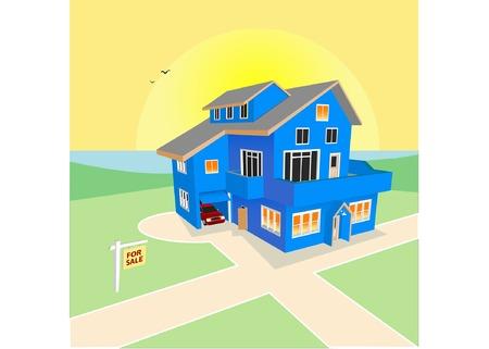 school kit: Dream Home for Sale (Vector fully resizable and editable) Illustration