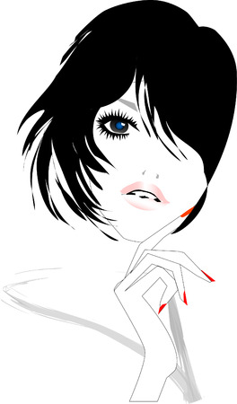 French Model Illustration