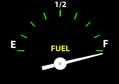 temperatures: Fuel Guage (Vector image fully resizable and editable)