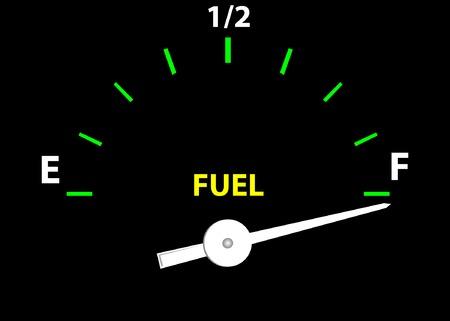 gagant: Jauge de carburant (Vector image enti�rement modifiable et �ditable)  Illustration