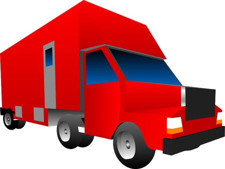 Box Truck Sixteen Wheeler Vector