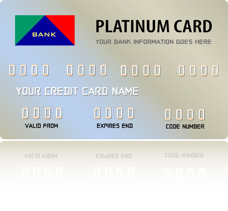 plastic card: Platinum Credit Card (Vector fully editable and resizable)