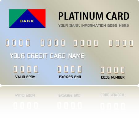 platin: Platinum Credit Card (Vector voll editierbar und ver�nderbar)