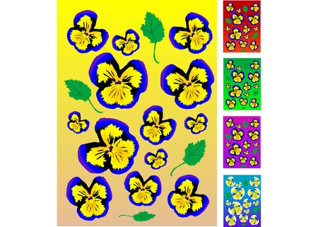 flourishing: Pansy Collection Illustration