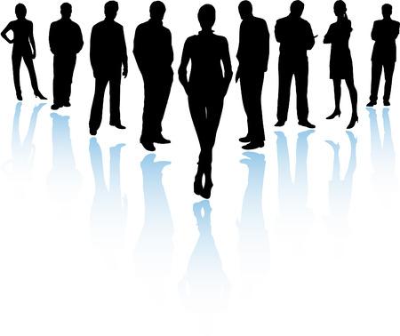 experte: Business Team (Vector resizable vollst�ndig und bearbeitet werden)