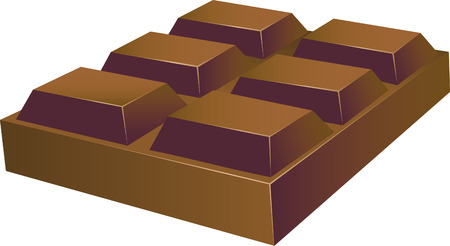 sugar cube: Chocolate Vector