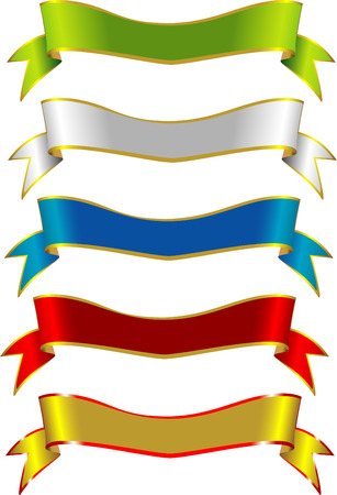 Generic Label Vector Ribbons suitable for many design uses Illustration