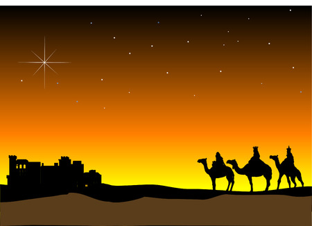 3 Wise Men Vector