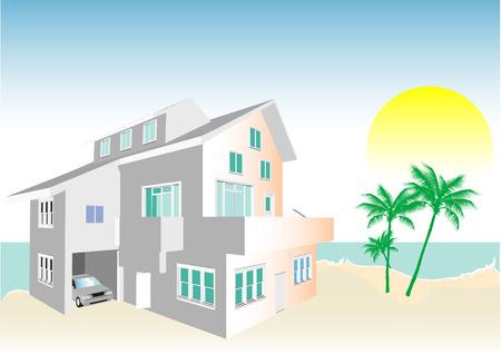 realización: Arquitecto de la Comunidad con diversas viviendas y oficinas en formato vectorial. Cada caracter�stica de cada edificio incluidas puertas y ventanas se pueden editar o colores para adaptarse.