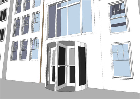 Architects Community featuring various dwellings and offices in vector format. Every feature of each building including doors and windows can be edited or colored to suit. Vector