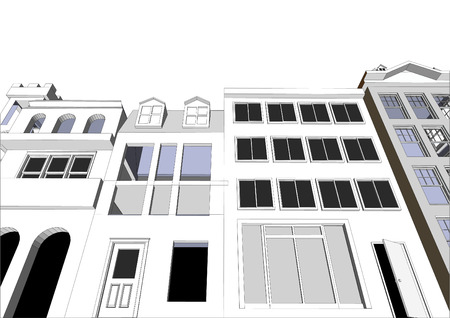 carport: Architects Community featuring various dwellings and offices in vector format. Every feature of each building including doors and windows can be edited or colored to suit.