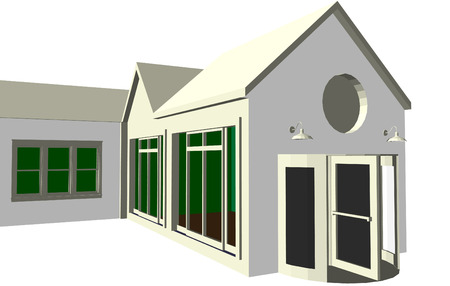 carport: Architects plan featuring various dwellings and offices in vector format. Every feature of each building including doors and windows can be edited or colored to suit