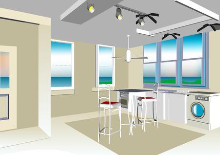 carport: Interior Illustration